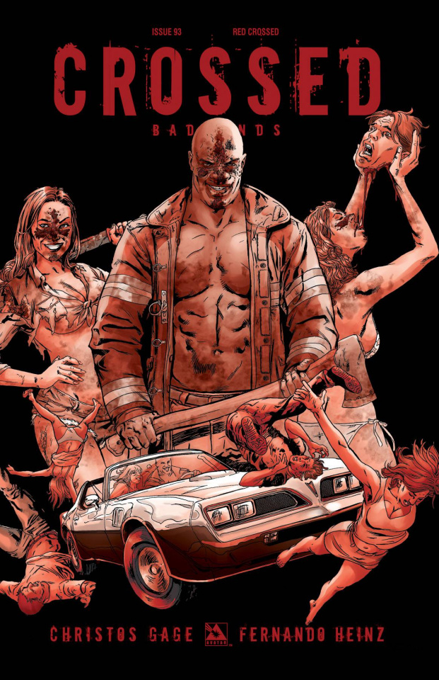 Crossed: Badlands #93 (Red Crossed Order Incentive Cover)
