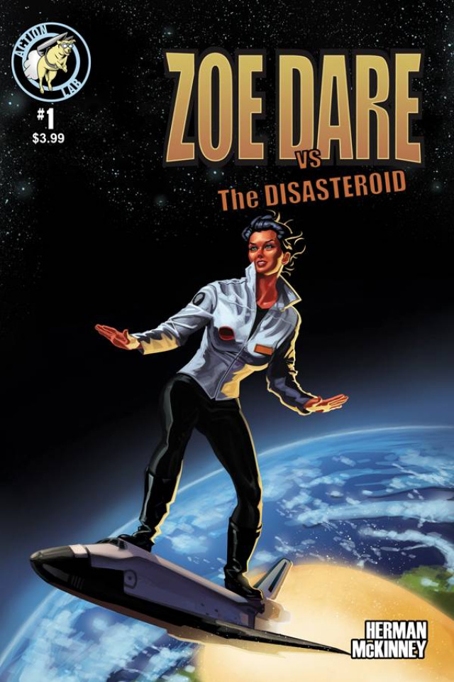 Zoe Dare vs. The Disasteroid #1 (Surf Shuttle Cover)