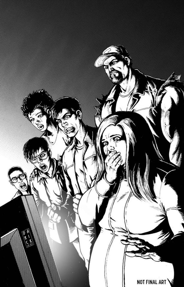 Harbinger: Renegade #7 (50 Copy B/W Sketch Cover)