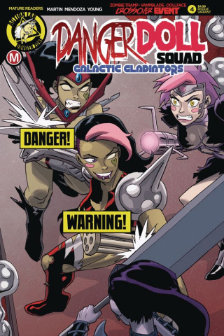 Danger Doll Squad: Galactic Gladiators #4 (Young Risque Cover)