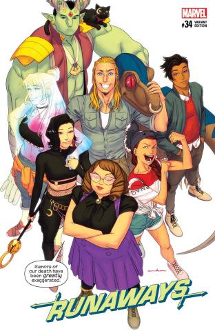 Runaways #34 (Anka Cover)
