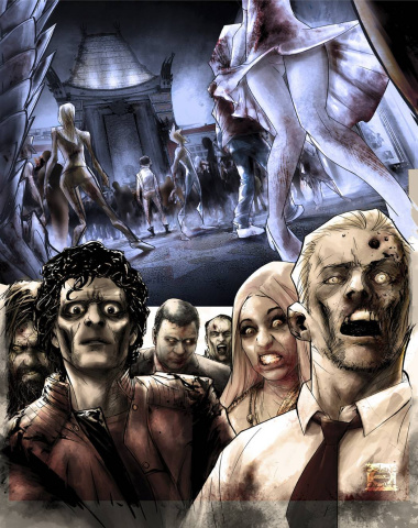 Hollywood: Zombie Apocalypse #1 (Caldwell Cover)