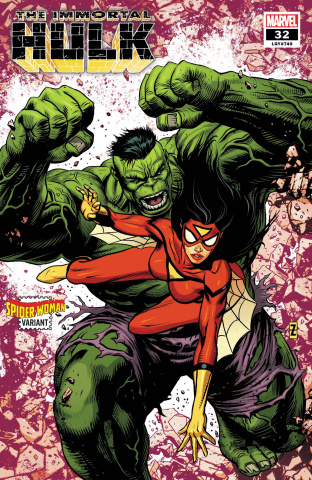 The Immortal Hulk #32 (Zircher Spider-Woman Cover)