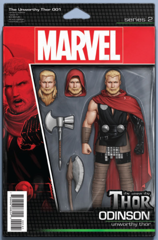 The Unworthy Thor #1 (Christopher Action Figure Cover)