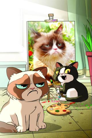 Grumpy Cat #1 (Rare Uy Art & Photo Virgin Cover)