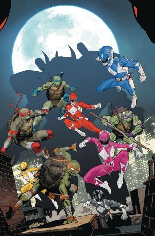 Power Rangers / Teenage Mutant Ninja Turtles #5 (Mora Cover)