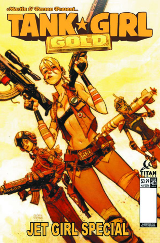 Tank Girl: Gold #3 (Robinson Cover)