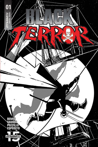 Black Terror #1 (50 Copy Fornes B&W Cover)