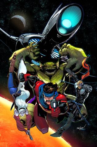 Uncanny X-Men #8 (Marquez GotG Cover)