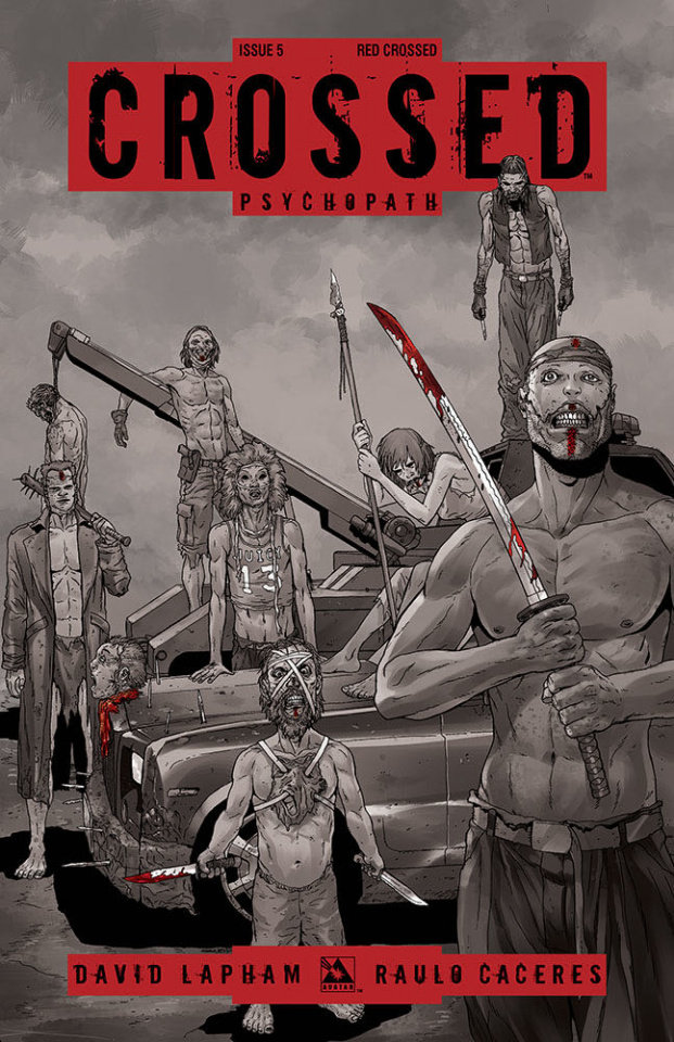 Crossed: Psychopath #5 (Red Crossed Cover)