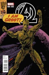 New Avengers #26 (Rocket Raccoon & Groot Cover)