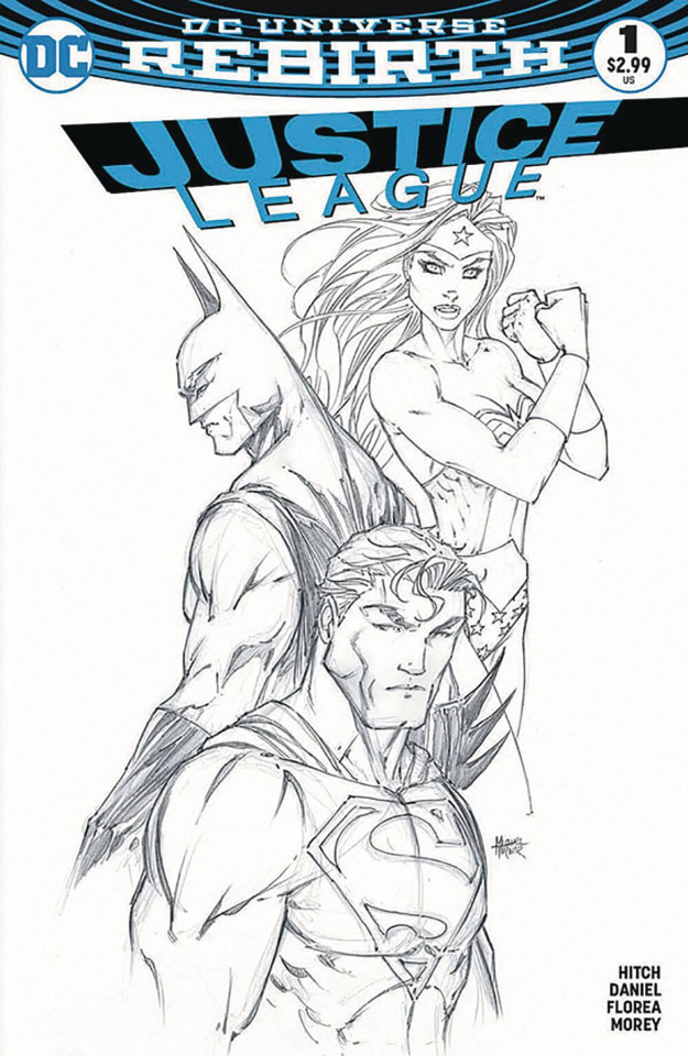 Justice League #1 (Aspen B&W Cover)