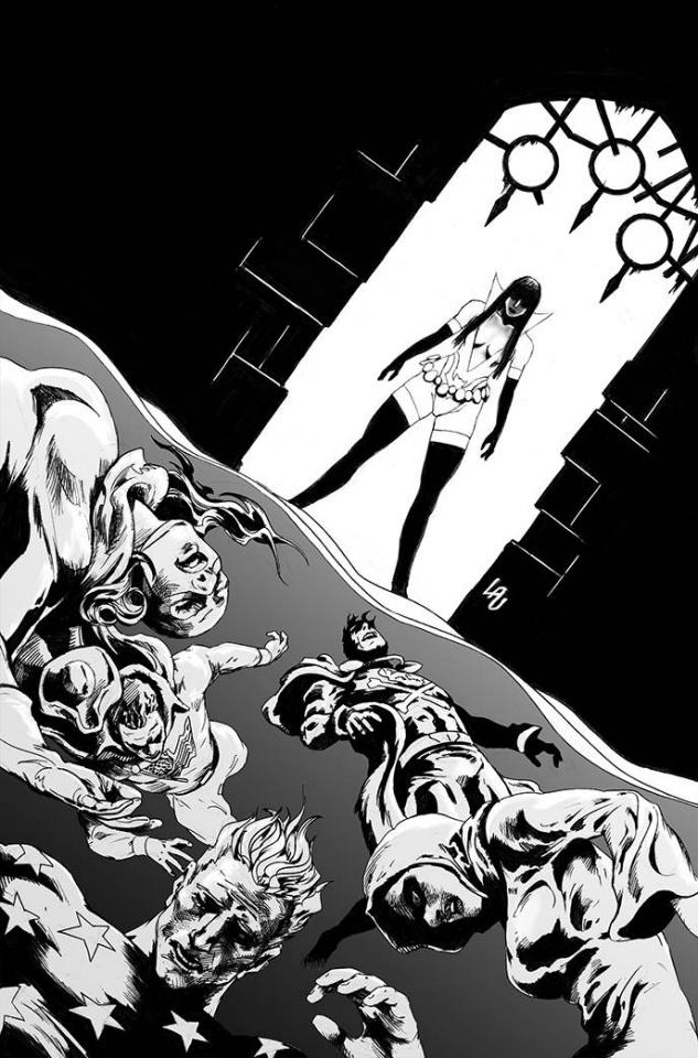 Vampirella: The Dark Powers #5 (7 Copy Lau B&W Virgin Cover)