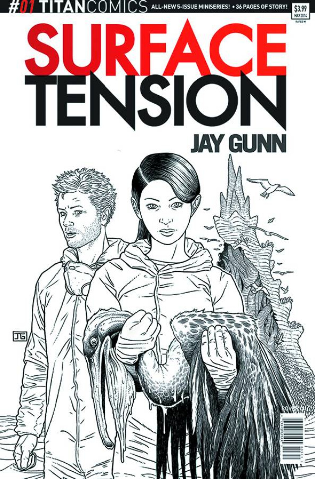 Surface Tension #1 (10 Copy Gunn B/W Cover)