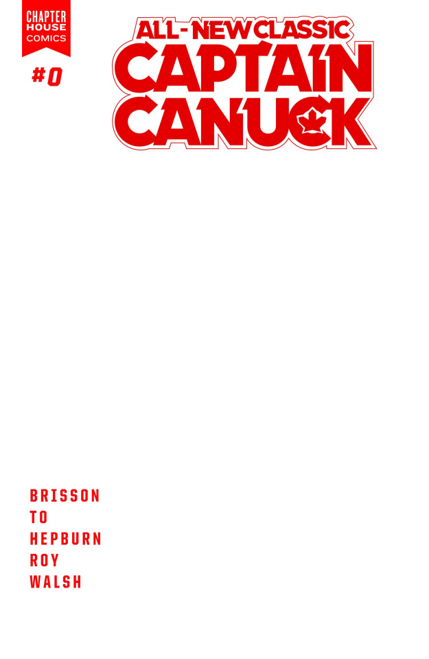 All-New Classic Captain Canuck #0 (Blank Sketch Cover)