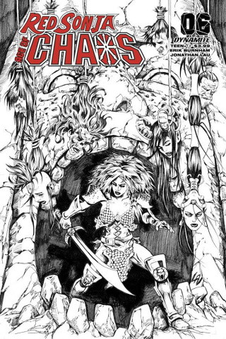 Red Sonja: Age of Chaos #6 (35 Copy Lau B&W Cover)