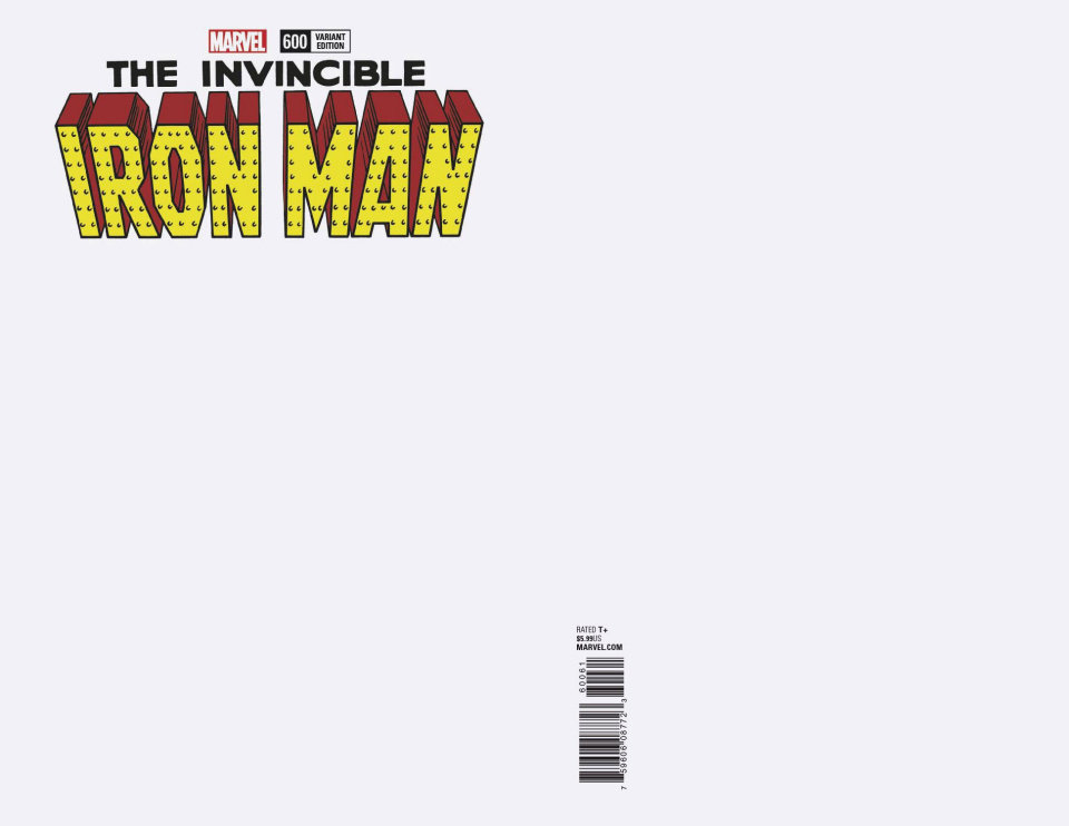Invincible Iron Man #600 (Blank Cover)