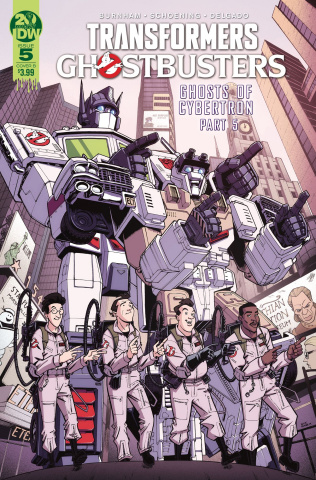 The Transformers / Ghostbusters #5 (Roche Cover)
