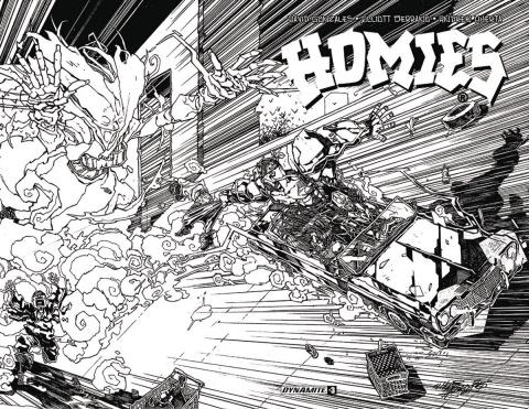 Homies #3 (15 Copy Huerta B&W Cover)