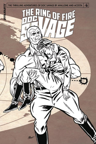 Doc Savage: The Ring of Fire #4 (10 Copy B&W Cover)