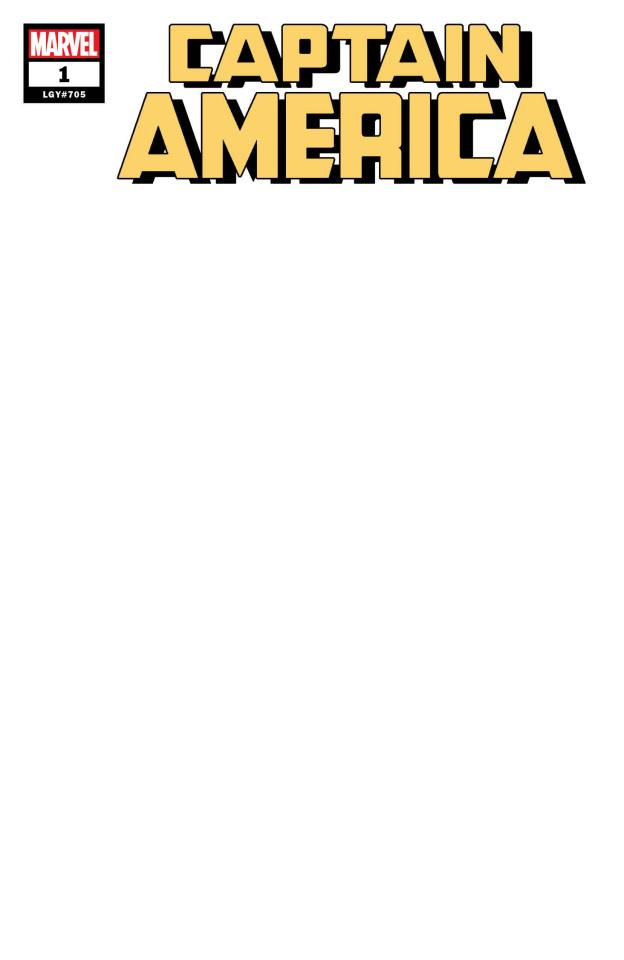 Captain America #1 (Blank Cover)