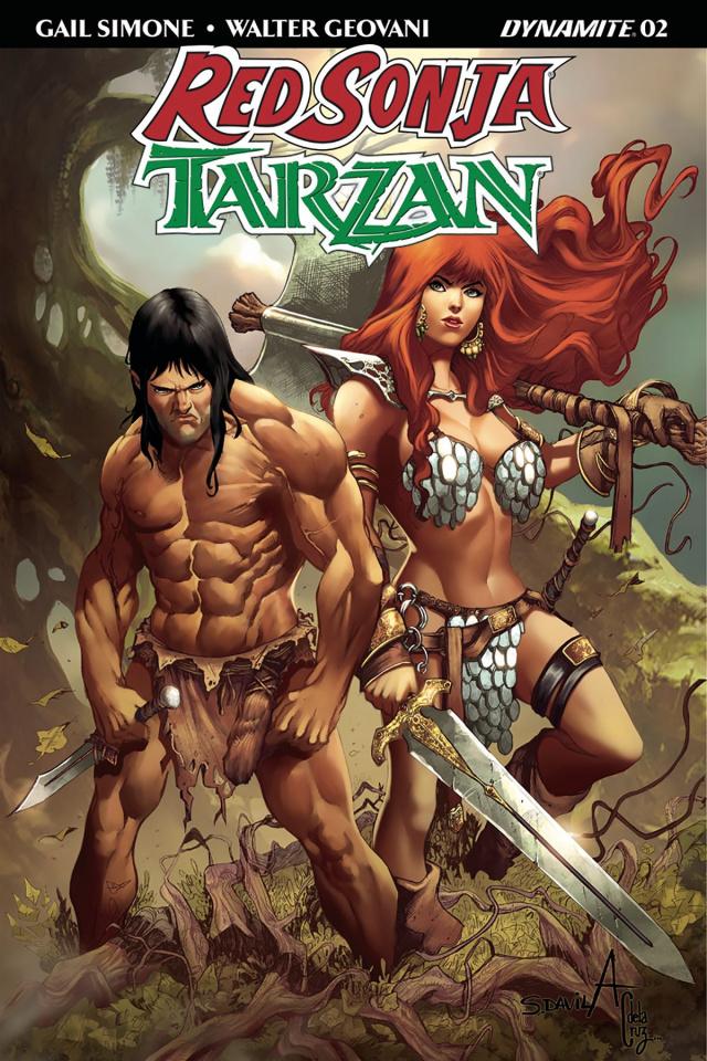 Red Sonja / Tarzan #2 (Davila Cover)