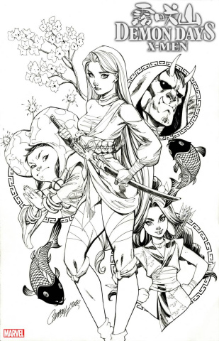 Demon Days: X-Men #1 (Campbell Sketch 2nd Printing)