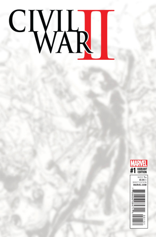 Civil War II #1 (B&W Virgin Connecting Cover)