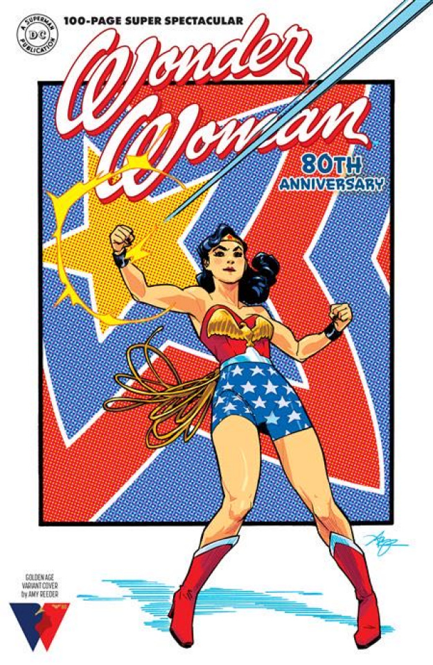 Wonder Woman: 80th Anniversary 100-Page Super Spectacular #1 (Amy Reeder Golden Age Cover)