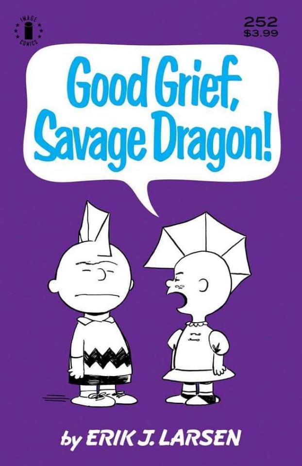 Savage Dragon #252 (3rd Printing Charlie Brown Parody Cover)