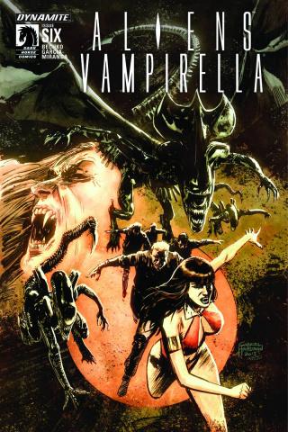 Aliens / Vampirella #6 (Hardman Cover)