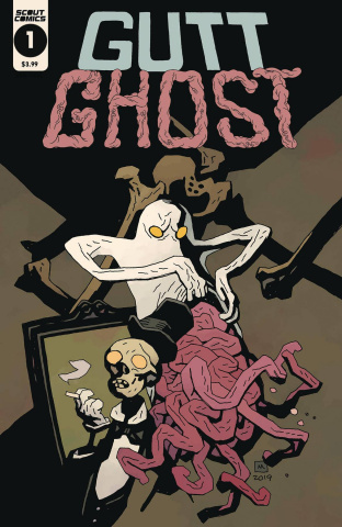 Gutt Ghost: Trouble with the Sawbuck Skeleton Society #1 (Mignola Cover)
