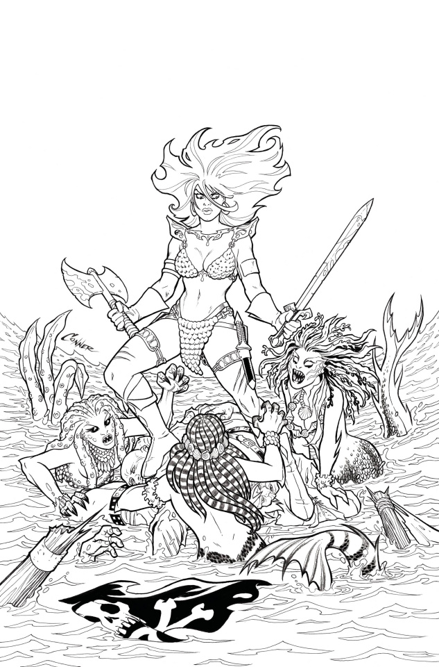 The Invincible Red Sonja #1 (40 Copy Conner Line Art Virgin Cover)
