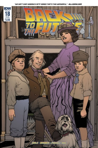 Back to the Future #18 (Subscription Cover)