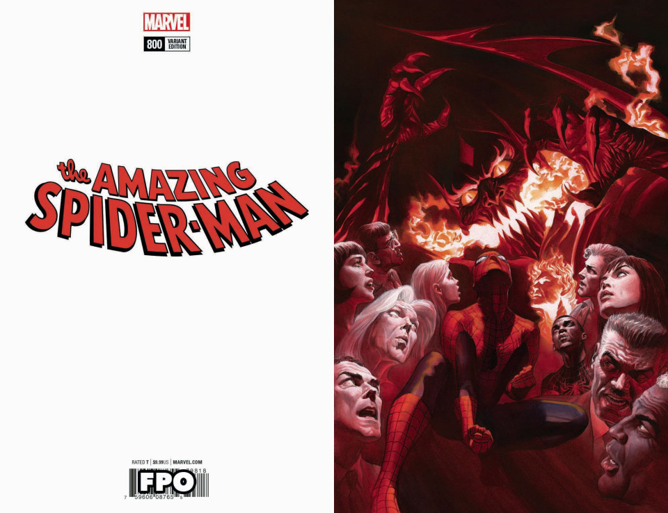 The Amazing Spider-Man #800 (Alex Ross Virgin Cover)