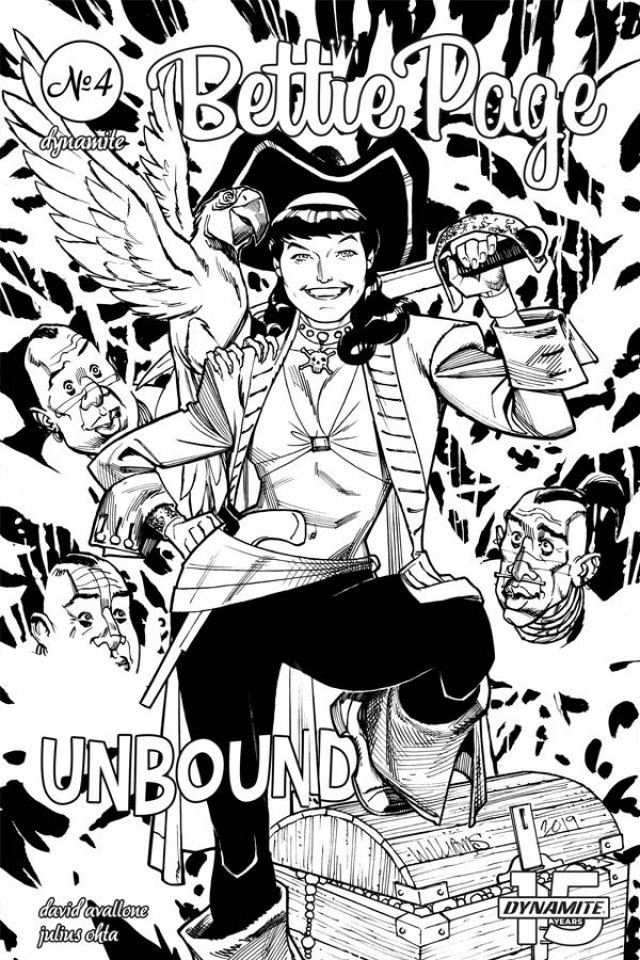 Bettie Page: Unbound #4 (20 Copy Williams B&W Cover)