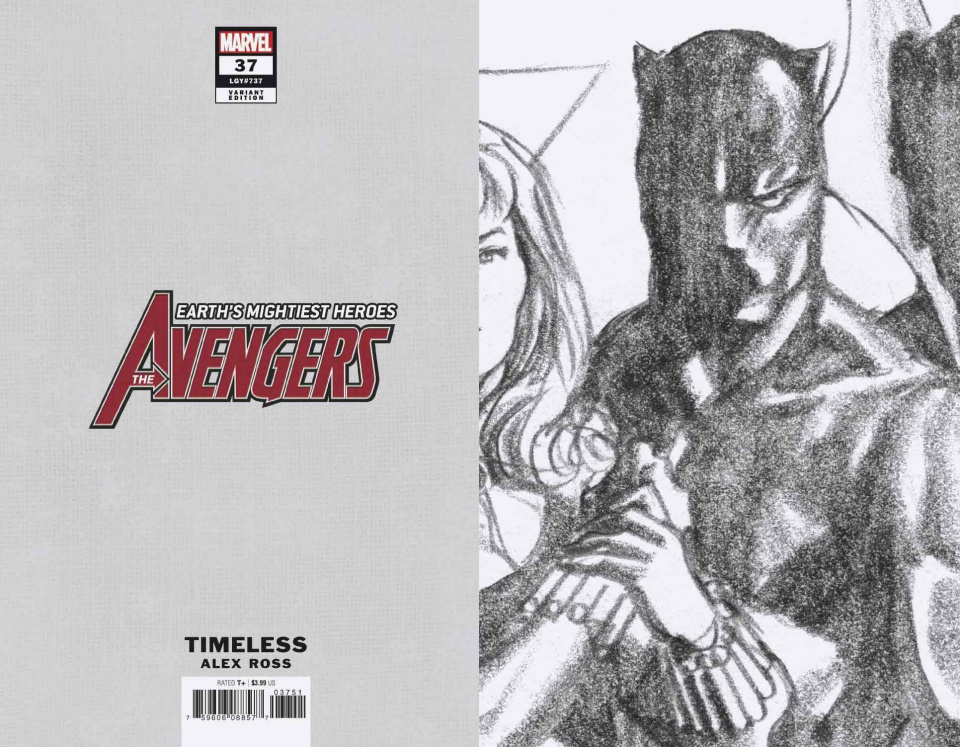 Avengers #37 (Ross Black Panther Timeless Virgin Sketch Cover)