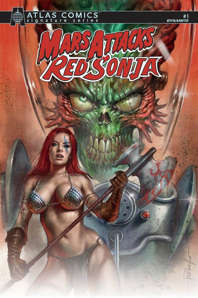 Mars Attacks / Red Sonja #1 (Layman Signed Atlas Edition)