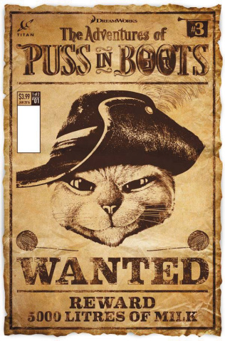 The Adventures of Puss in Boots #3 (Cover B)