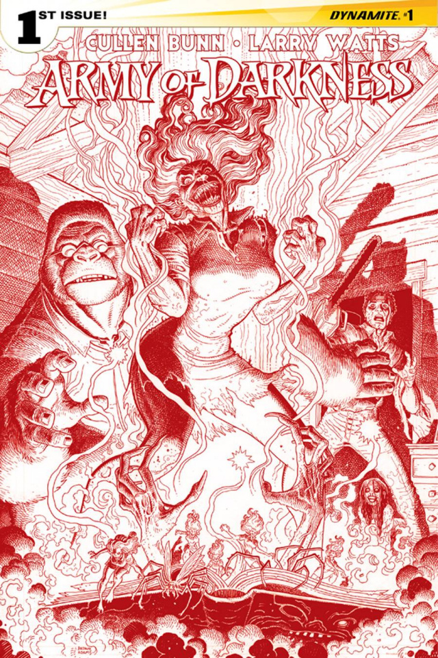 Army of Darkness #1 (Rare Adams Blood Red Cover)