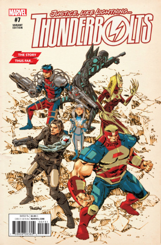 Thunderbolts #7 (Panosian Story Thus Far Cover)