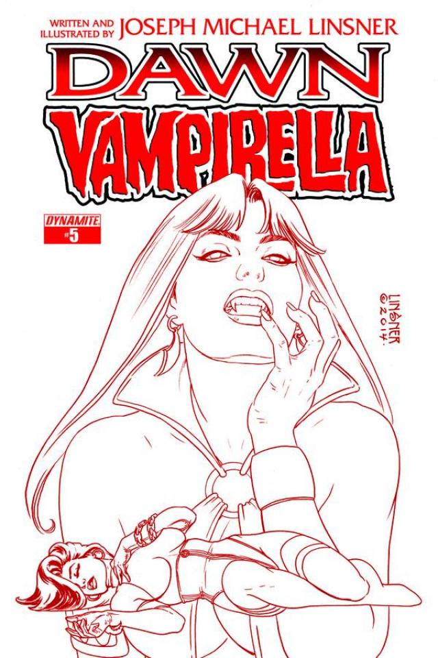 Dawn / Vampirella #5 (25 Copy Linsner Red Cover)