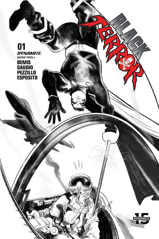 Black Terror #1 (40 Copy Henderson B&W Cover)