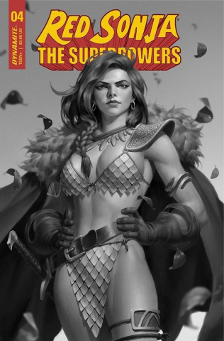 Red Sonja: The Superpowers #4 (Premium Yoon B&W Cover)