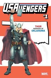 U.S.Avengers #1 (Reis Oklahoma State Cover)