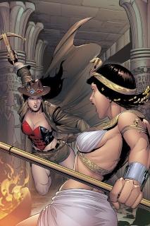 Grimm Fairy Tales: Van Helsing vs. The Mummy of Amun Ra #5 (Rose Cover)