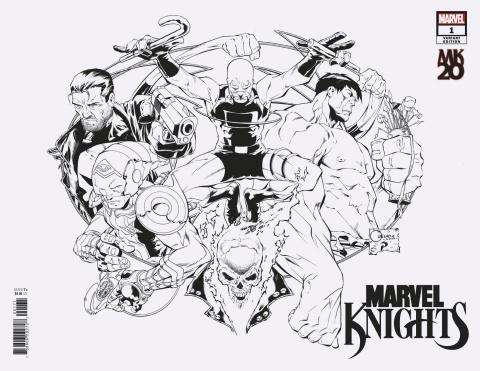 Marvel Knights: 20th Anniversary #1 (Quesada Wraparound B/W Cover)