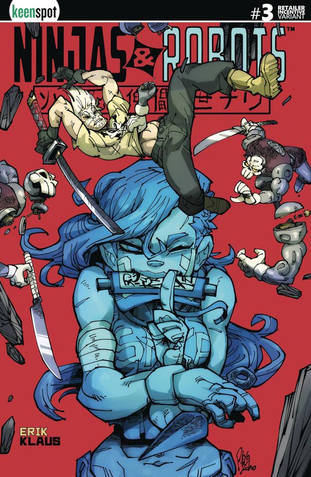Ninjas & Robots #3 (5 Copy Piyotycho Cover)