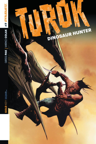 Turok: Dinosaur Hunter #7 (Lee Subscription Cover)