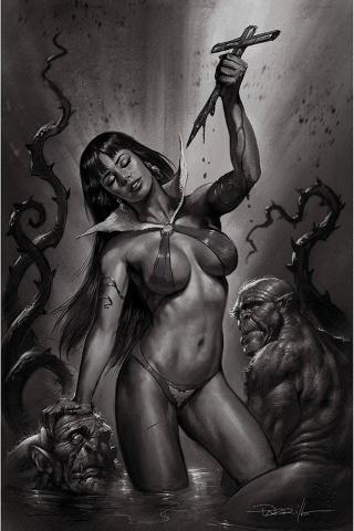 Vampirella #18 (50 Copy Parrillo Virgin B&W Cover)